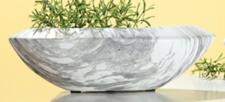GILDE Deko-Schale Marble grau weiß, 19 x 40 x 13 cm