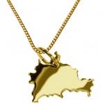 BERLIN Kettenanhänger aus 585 Gelbgold mit Halskette