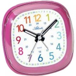 Atlanta 1736/8 Wecker Kinderwecker Quarz pink leise Lernwecke