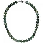 Halskette Kette Moosachat 45 cm Moosachatkette Steinkette