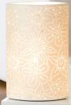 Tischlampe Prickel oval mit Durchbrüchen, 11 x 20 x 35 cm