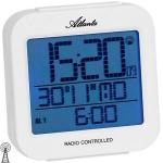 Atlanta 1809/0 Wecker Funk digital weiß Licht Datum Thermometer