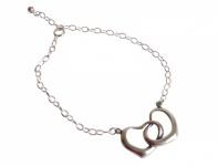 Armband mit Herzen aus 925 Silber