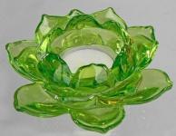 formano Windlicht Gläserne Rose aus Klarglas, grün 11 cm