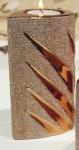 GILDE Teelichthalter Style Gold aus Keramik, 11 cm