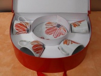 Kaffee-Set - 8-tlg. im Geschenkkarton aus Porzellan