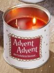 GILDE trendiger Adventskranz to go mit Spruch Advent, 10 cm