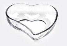 Dekorative Glasschale in Herzform, 17 cm