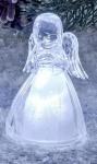 formano Engel aus Acryl mit Beleuchtung die Hände am Kinn, 10 cm