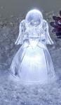 formano Engel aus Acryl mit Beleuchtung die Hände vorn, 10 cm