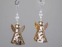 Deko-Hänger Engel 3D, goldfarben aus Metall, 8 cm