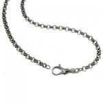 50 cm Erbskette - 585 Weißgold - 3, 5 mm Halskette
