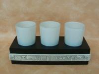Teelichthalter für 3 Teelichter Afrika