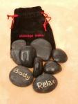 Massage Steine im Beutel 9er Set
