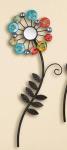 GILDE Wanddeko Wandblume multicolor mit Spiegeln und Acryl, 15 x 55 cm