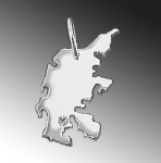 DÄNEMARK Kettenanhänger aus 925 Silber mit Brillant am Wunschort