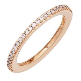 Damen Ring 585 Rotgold 26 Diamanten Brillanten