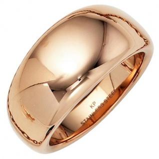 Damen Ring breit Edelstahl rotgold farben beschichtet