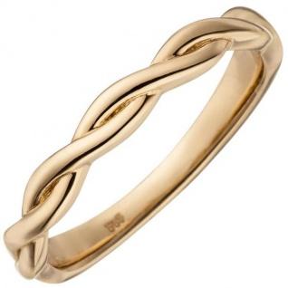 Damen Ring geflochten 585 Rotgold Rotgoldring