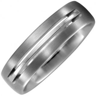 Partner Ring aus Titan matt Partnerring