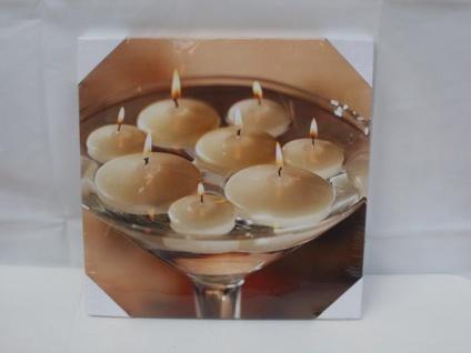 Wandbild Kerzen mit LED Beleuchtung, 30 cm