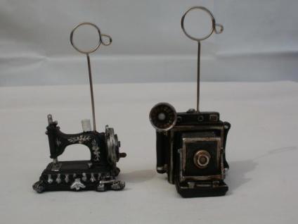 Witziger Kartenhalter, Nähmaschine oder Kamera