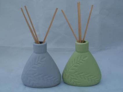 Raumduft-Vase in Grün oder Grau, 10 cm hoch
