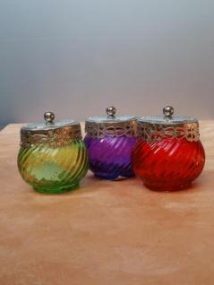 Teelichtglas Orient mit Deckel