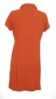 Heine Polokleid Kleid Polo Hemd Tunika kurzarm knielang orange 005860 - Vorschau 2