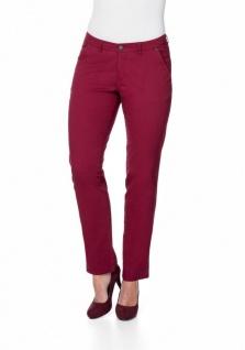 Sheego Damen Chinohose Hose Chino Jeans Stretch Langgröße weinrot 862106