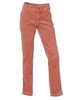 B.C. Damen Cordhose Cord Hose Stretch Jeans Feincord Chinos terracotta 002045