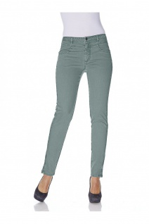 B.C. Damen Jeans Hose Röhre Stretch Color Denim jade 007417