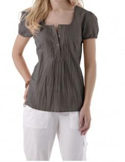 Blusen-Shirt Knopfleiste Kurzarm Top Hemd Bluse T-Shirt 823396