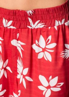 Rainbow Damen Bermuda Shorts kurze Hose Blumen-Muster rot 912931 - Vorschau 5