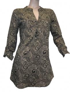 Cheer Damen Longbluse Bluse Hemd Tunika Shirt langarm Paisley braun 609594