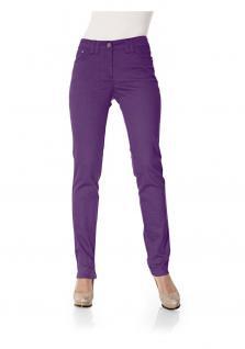 B.C. Damen Röhrenhose Hose Röhre Chino Jeans Stretch Skinny Denim lila 045693