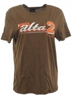 BPC Herren T-Shirt bedruckt Kurzarm Shirt Top Gr. 44/46 Dunkelbraun 964952