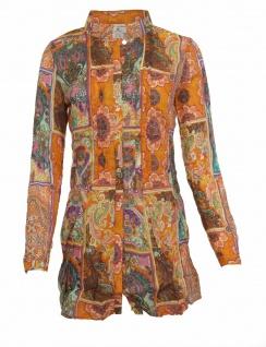 Rick Cardona Damen Bluse Hemd langarm Shirt Paisley Muster Bunt Gr. 34 067343