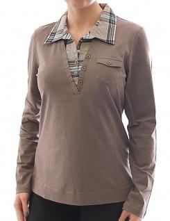 Corley Damen T-Shirt Langarmshirt Longshirt Bluse Hemd braun 557651