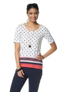 Damen Chillytime Shirt Tunika Bluse Top T-Shirt Tupfen Streifen Baumwolle 632764