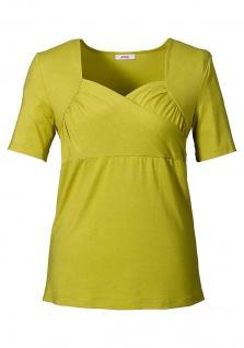 Sheego Damen Shirt Wickeloptik Bluse Tunika T-Shirt kurzarm kiwi 524808