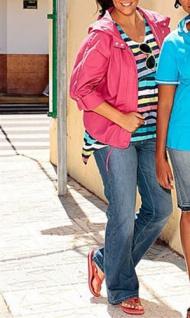 Your Life Fashion Damen Jeanshose Hose Jeans Chino Stretch blau Gr. 40 719902