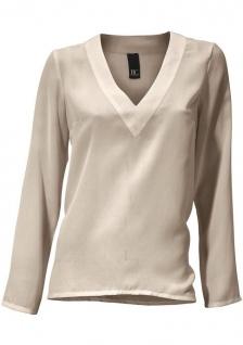 B.C. Damen Schlupfbluse Bluse Shirt langarm Tunika taupe 091359