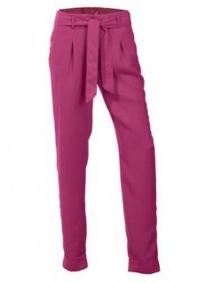 B.C. Damen 7/8 Hose Stoffhose Stretch Chinos Polyester pink 144539