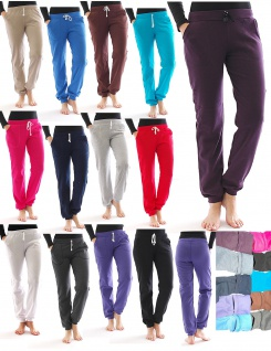 Jogging Hose innen Fleece Taschen Sport Leggings Baumwolle Yoga Relax Thermo