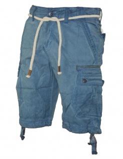 Herren Jeans kurze Hose lange Cargo Shorts Bermuda Caprihose mit Gürtel 8835 - Vorschau 3