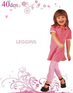 Kinder Mädchen Leggings Leggins blickdicht wie Strumpfhose 40den 116 128 140