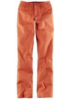 John Baner Jeans Stretch gerade Hose Straight Leg Denim Orangenrot 949099