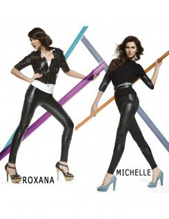 Fashion Hose Kunstleder Kunst-Leder Stretch elastisch Röre Damen Michelle-Roxana