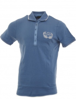 m.i.m Damen Poloshirt Shirt T-Shirt kurzarm Tunika Bluse Baumwolle blau 791858